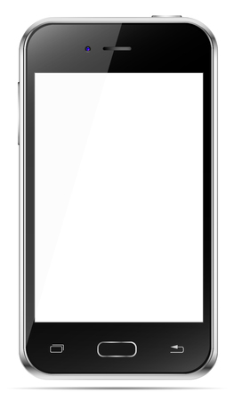 Mobile phone isolated in a white background. To present your application.