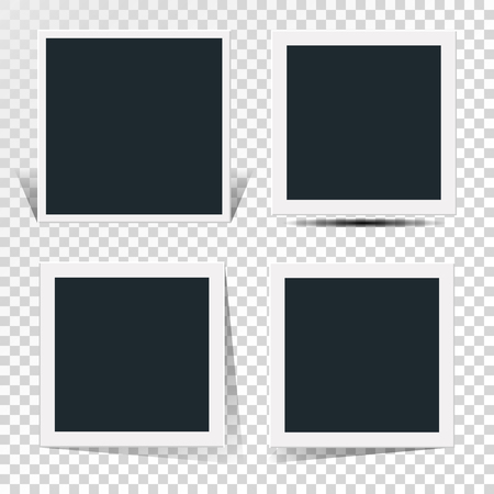 Collection of the concept of rotation of the retro photo frame.