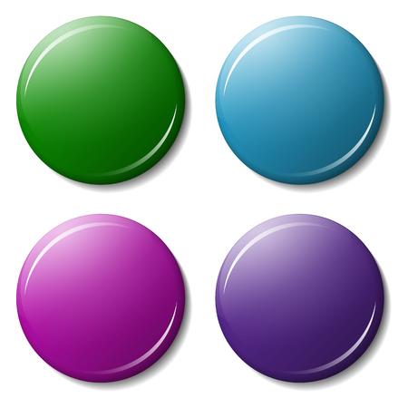 Verzamelmagneet met schaduw- en kleurreflex, hoogtepunten. Geïsoleerd op witte achtergrond Vector Illustratie