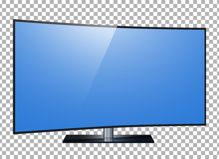 TV. 4k Ultra HD screen, led tv isolated transparancy background. Vectores