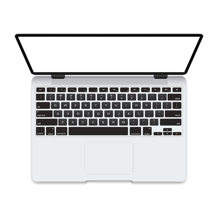 Mockup laptop isolated on white background. Vectror illustration. To present your application and web design. Ilustração