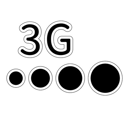 3G network filled vector icon. Isolated on a white background Pixel perfect vector illustration for icon, website, mobile app and other designs.