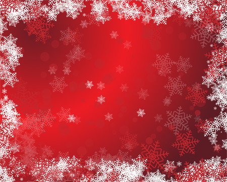 Background on a red and white abstract backdrop with silk fabric. Happy New Year quote. Perfect for social media campaigns. Illustration