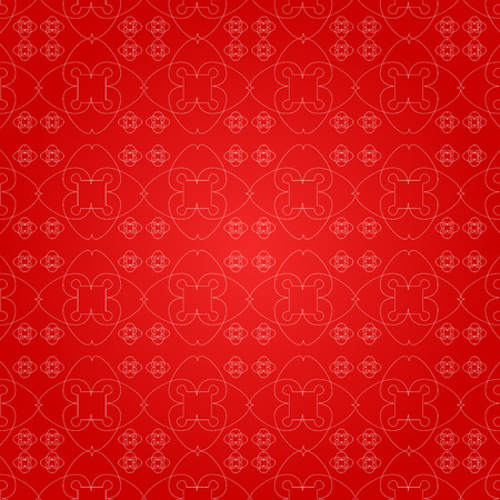 Seamless patterns with geometric ornaments. Vector arabic seamless textures. Isolated on a red backgraund. Stock vector