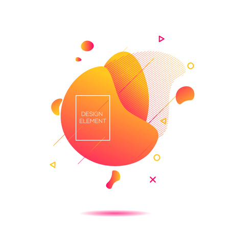 Abstract modern graphic elements. Dynamical colored forms living coral and line. Gradient abstract banners with flowing liquid shapes. Template for the design of a logo, flyer or presentation. Vector. Imagens - 126769827