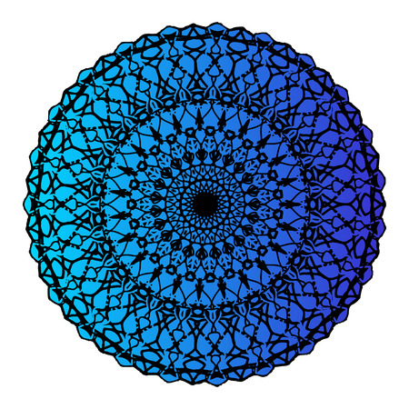 Color gradient mandala. Super vector round Shapes. Vector illustration Imagens - 126476530