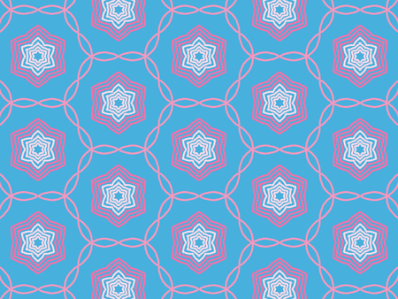 rose color Pattern retro With Abstract Floral And Leave Style. Repeating Sample Figure And Line. For Modern Interiors Design, Textile Industry, Wallpaper. Isolated on a blue background Imagens