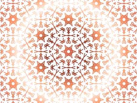 Abstract Repeat Backdrop With Lace Floral Ornament. Seamless Design For Prints, Textile, Decor, Fabric. Super Vector Pattern. Decorative wallpaper for interior design. Super gradient color Ilustração