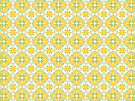 Abstract Repeat Backdrop With Lace Floral Ornament. Seamless Design For Prints, Textile, Decor, Fabric. Super Vector Pattern. Decorative wallpaper for interior design. Yellow gradient 向量圖像