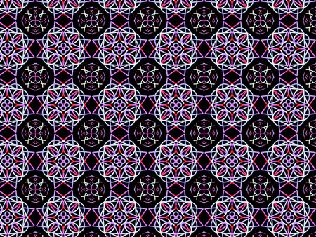 Oriental pattern, illustration. Flower Mandala. Vintage decorative elements. Ornament. Isolated on a black background. Imagens