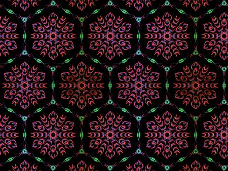 Oriental pattern purple color, illustration. Flower Mandala. Vintage decorative elements. Ornament. Isolated on a black background Imagens