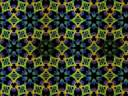 Oriental pattern kaleidoskope, illustration. Flower Mandala. Vintage decorative elements. Ornament. Isolated on a black background
