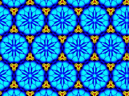 Oriental pattern blue color, illustration. Flower Mandala. Vintage decorative elements. Ornament. Isolated on a black background