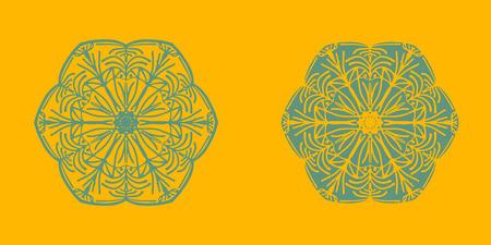 Yoga ornamental emblems biljna arabeska and mandala set. Vector geometric symbols with typography. Graphic templates for relax or spa center, yoga studio, healthcare and traditional medicine. part 9 Reklamní fotografie - 126315202