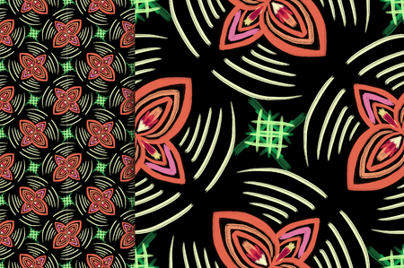 Oriental pattern coffe color, illustration. Flower Mandala. Vintage decorative elements. Ornament. Isolated on a black background. You only need to crop Imagens