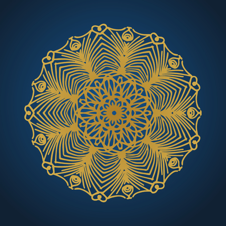 Yoga ornamental gold emblems biljna arabeska and mandala. Vector geometric symbols with typography. Graphic templates for relax or spa center, yoga studio, healthcare and traditional medicine. Banque d'images - 125277187