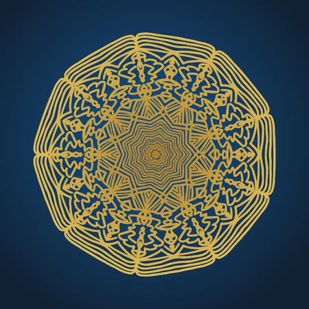 Yoga ornamental gold emblems biljna arabeska and mandala. Vector geometric symbols with typography. Graphic templates for relax or spa center, yoga studio, healthcare and traditional medicine. Imagens - 125277189