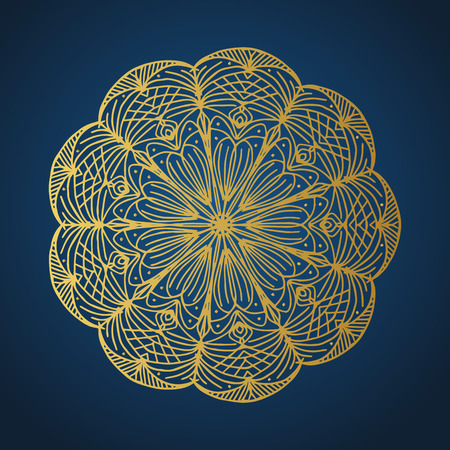 Yoga ornamental gold emblems biljna arabeska and mandala. Vector geometric symbols with typography. Graphic templates for relax or spa center, yoga studio, healthcare and traditional medicine. Banque d'images - 125277190