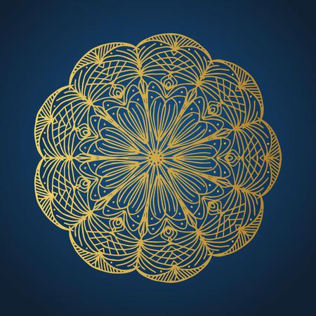 Yoga ornamental gold emblems biljna arabeska and mandala. Vector geometric symbols with typography. Graphic templates for relax or spa center, yoga studio, healthcare and traditional medicine. Reklamní fotografie - 125277190