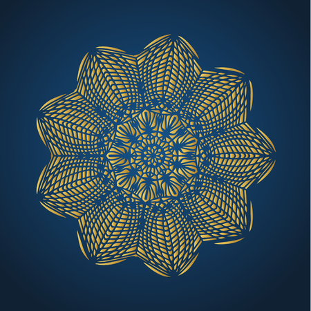 Yoga ornamental gold emblems biljna arabeska and mandala. Vector geometric symbols with typography. Graphic templates for relax or spa center, yoga studio, healthcare and traditional medicine. Imagens - 125277195