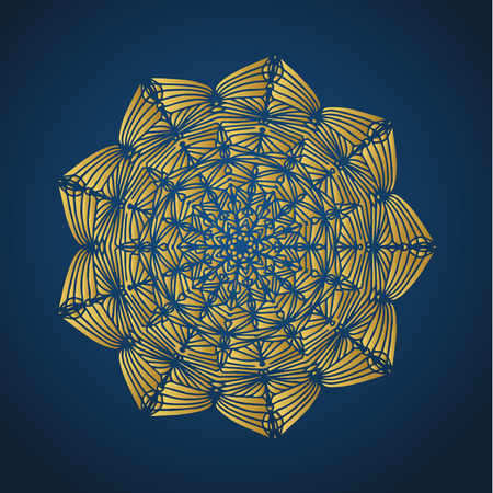 Yoga ornamental gold emblems biljna arabeska and mandala. Vector geometric symbols with typography. Graphic templates for relax or spa center, yoga studio, healthcare and traditional medicine. Reklamní fotografie - 125277200
