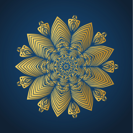 Yoga ornamental gold emblems biljna arabeska and mandala. Vector geometric symbols with typography. Graphic templates for relax or spa center, yoga studio, healthcare and traditional medicine. Reklamní fotografie - 125277203
