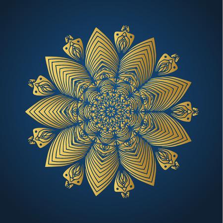 Yoga ornamental gold emblems biljna arabeska and mandala. Vector geometric symbols with typography. Graphic templates for relax or spa center, yoga studio, healthcare and traditional medicine.