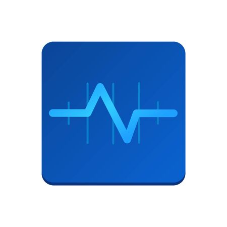 Health, pulse, palpitations icon vector. Isolated on white background, health concept. Trendy Flat style for graphic design, Web site, UI. EPS10