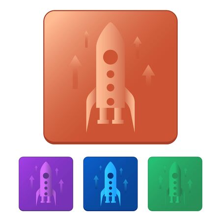 Startup icon vector. Rocket isolated on white background, business concept. Trendy Flat style for graphic design, Web site, UI. 向量圖像