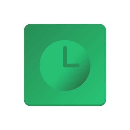 Clock icon vector. Isolated on white background, business concept. Trendy Flat style for graphic design, Web site, UI.