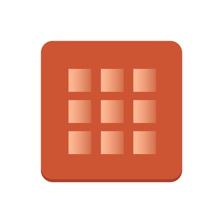Calculator icon vector. Savings, finances sign isolated on white background, economy concept. Trendy Flat style for graphic design, Web site, UI.
