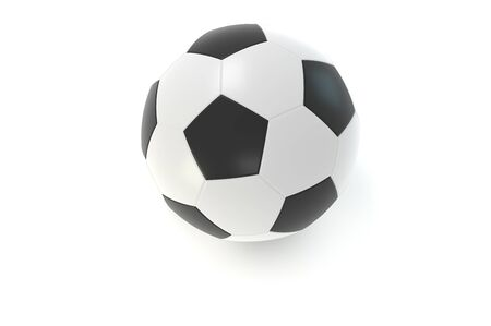 Leather soccer ball. Over white background. 3D - rendering. 3D - illustration Reklamní fotografie