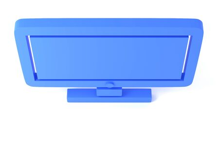 Computer display 3D illustration. 3D rendering. Icon screen pc. Isolated on white background.