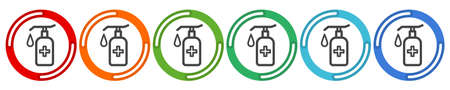 Simple Set of Washing Hands Related Vector Line Icons. Contains such Icons as Washing Instruction, Antiseptic, Soap and more. Editable Stroke. 48x48 Pixel Perfect. Ilustrace