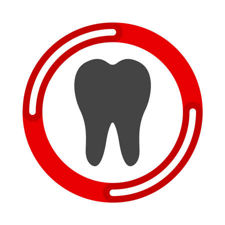 Tooth icon. Dental icons. Vector illustration flat design UI and UX