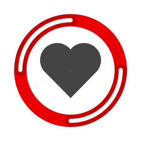 Heart Icon. Vector illustration flat design UI and UX