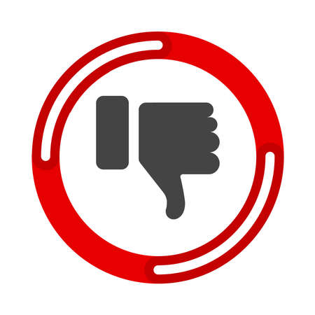 DisLike Thumbs Down symbol icon. Vector illustration flat design UI and UX Ilustrace