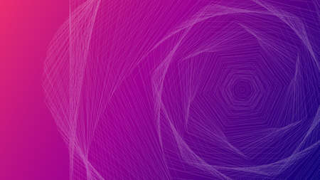 Abstract lines on a gradient background. Line art. Vector illustration. Design element