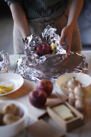 Making baked apple