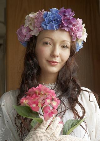 Bride holding Hydrangea