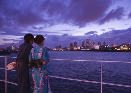 Couple in yukatas