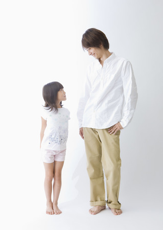 Father and daughter talking