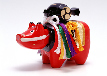 Toy of  red cow