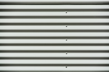 Corrugated white painted metal sheet texture background 版權商用圖片
