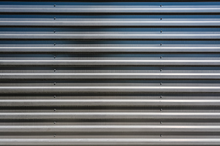 Corrugated metal sheet texture background. Modern building material