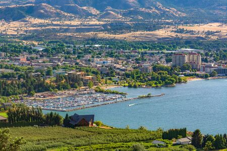 Magnificent view over Okanagan lake and the valley