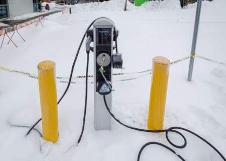 Brocken charging station in extreme weather conditions