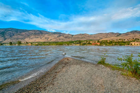 Haynes point on Osoyoos lake with landscape overview on warm summer evening