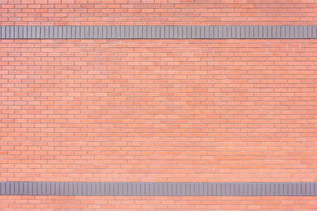 Red brick wall abstract background texture with two lanes