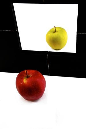 mirror: Apple in a mirror